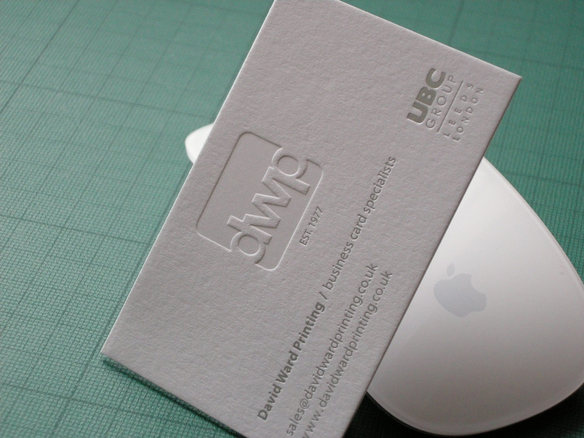 letterpress business cards - David Ward Printing