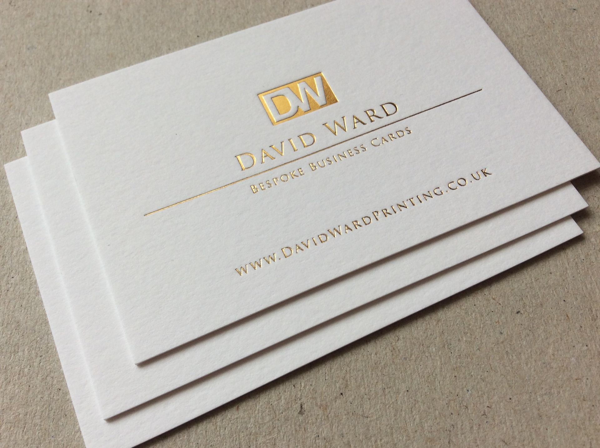 letterpress business cards David Ward Printing